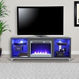 Ameriwood Home Lumina Fireplace TV Stand for TVs up to 70 Wide, Gray (1822296COM)