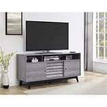 Ameriwood Home Vaughn TV Stand for TVs up to 60 Wide, Gray Oak (1823196COM)