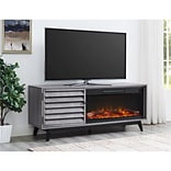 Ameriwood Home Vaughn Fireplace TV Console, Gray Oak (1824196COM)