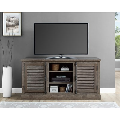 Ameriwood Home Sienna Park TV Console, Weathered Oak (1814096COM)