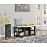 Ameriwood Home Parsons Storage Bench, Black (3610196COM)