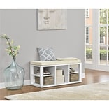 Altra Furniture Pursuit 9846296 29 Wood L Desk with Bundle, White/Gray