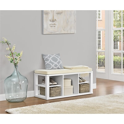 Ameriwood Home Parsons Storage Bench, White (3610096COM)