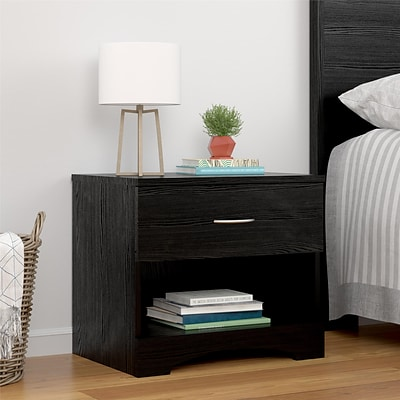 Ameriwood Home Crescent Point Nightstand, Black Oak (5978325COM)