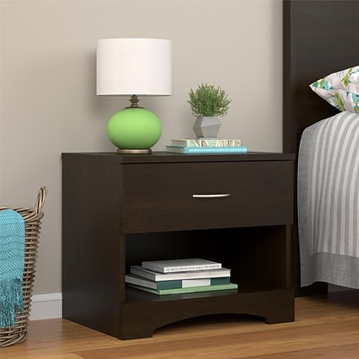 Ameriwood Home Crescent Point Nightstand, Espresso (5978303COM)