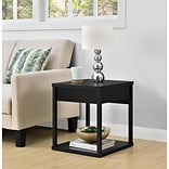 Ameriwood Home Parsons End Table with Drawer, Black (5185096COM)