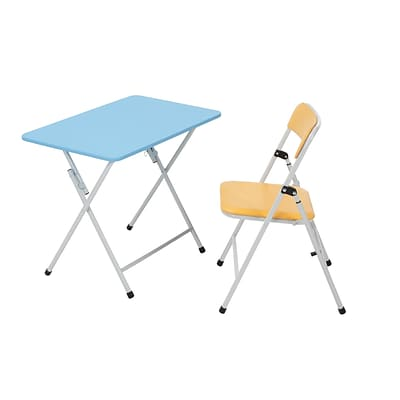 COSCO Kids 2 Piece Activity, Table and Chair, Orange Chair, Blue Table (14322GBO1E)