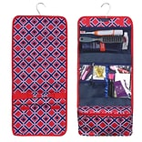 Zodaca Travel Hanging Cosmetic Carry Bag Toiletry Wash Organizer Storage - Red Times Square