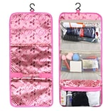 Zodaca Travel Hanging Cosmetic Toiletry Carry Bag Wash Organizer Storage - Pink Ballet