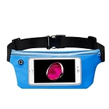 Insten Lightweight Sports Fitness Running Jogging Waist Pack Pocket Belt Pouch Bag Case - Blue (Size