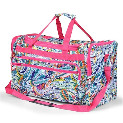 Zodaca Large Duffel Travel Bag Overnight Weekend Handbag Camping Hiking Zipper Shoulder Carry Bag - Multicolor Paisley