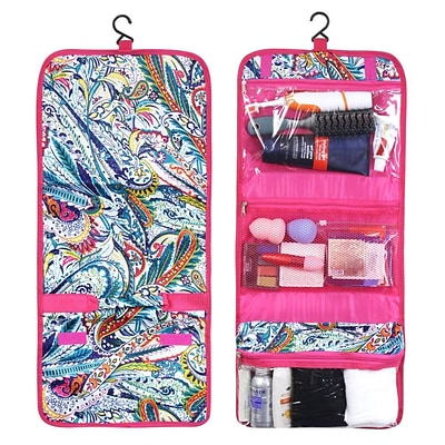 Zodaca Travel Hanging Cosmetic Toiletry Carry Bag Wash Organizer Storage - Paisley