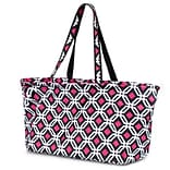 Zodaca Large All Purpose Stylish Magnetic Clasp Open Top Handbag Laundry Shopping Utility Tote Carry