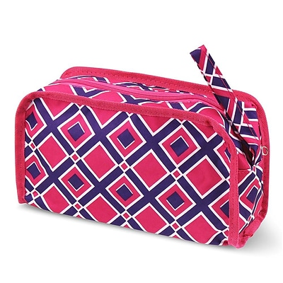 Zodaca Travel Cosmetic Makeup Case Bag Pouch Toiletry Zip Organizer - Pink Times Square