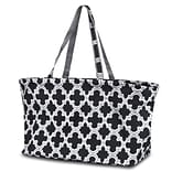 Zodaca Large All Purpose Stylish Open Top Handbag Laundry Shopping Utility Tote Carry Bag - Quatrefo