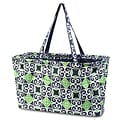Zodaca All Purpose Large Utility Handbag Laundry Shopping Travel Tote Carry Shoulder Bag - Navy/Gree