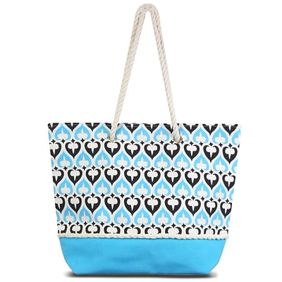Zodaca Spade Women Handbag Ladies Large Shoulder Tote Purse Messenger Bag (Size: 18.5 L x 5.5  W x 14.5 H) - Blue