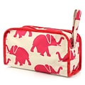 Zodaca Womens Hanging Travel Cosmetic Bag Toiletry Pouch Makeup Organizer Storage Case - Elephant
