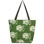Zodaca Large All Purpose Lightweight Handbag Shopping Travel Tote Carry Shoulder Zipper Bag - Green