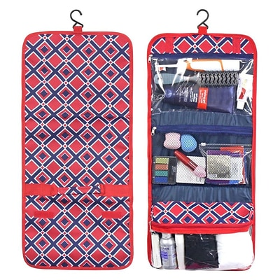 Zodaca Travel Hanging Cosmetic Toiletry Carry Bag Wash Organizer Storage - Red Times Square