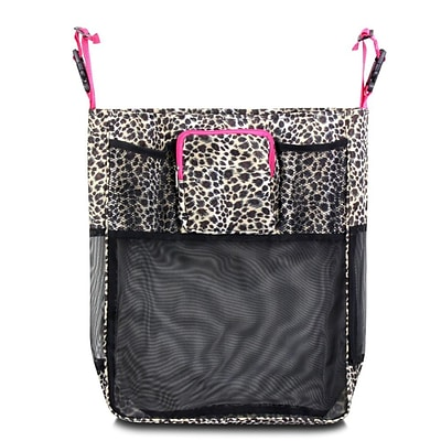 Zodaca Baby Cart Strollers Bag Buggy Pushchair Organizer Basket Storage Bag for Walk Shopping - Leopard Pink Trim