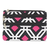 Zodaca Women Coin Purse Wallet Zipper Pouch Bag Card Holder Case - Black Graphic