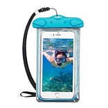 Insten Universal Lightning Underwater Waterproof Pouch Pack Bag Dry Case w/Lanyard - Blue