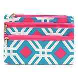Zodaca Women Coin Purse Wallet Zipper Pouch Bag Card Holder Case - Blue Graphic