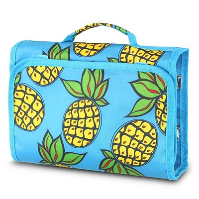 Zodaca Fashion Jewelry Hanging Travel Business Trip Organizer Multi-Functional Roll Zipper Bag - Pineapple