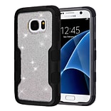 Insten Black/Silver TUFF Vivid Hybrid Shockproof Hard PC/TPU Case Cover For Samsung Galaxy S7