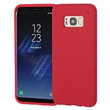 Insten Frosted SPOTS TPU Rubber Candy Skin Gel Back Case Cover For Samsung Galaxy S8 Plus S8+ - Red