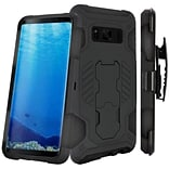 Insten SuperCoil Hybrid Hard Premium Kickstand Holster Case For Samsung Galaxy S8 - Black