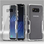 Insten Transparent Clear TUFF Panoview Hybrid PC/TPU Case For Samsung Galaxy S8 - Silver