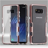 Insten Transparent Clear TUFF Panoview Hybrid PC/TPU Case For Samsung Galaxy S8 - Rose Gold
