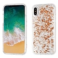 Insten TPU Rubber Candy Skin Case Cover for Apple iPhone X - Rose Gold