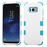 Insten TUFF [Shock Absorbing] Hybrid PC/Silicone Cover Case For Samsung Galaxy S8 - Natural Ivory Wh