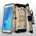 Insten 3-in-1 Kinetic Hybrid Holster Case Combo with Glass Protector For Galaxy J7 (2017)/J7 Perx/J7