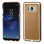 Insten Premium TPU Rubber Candy Skin Gel Case For Samsung Galaxy S8+ S8 Plus - Gold