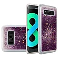Insten Liquid Quicksand Glitter Fused Flexible Hybrid Hard Case Cover For Samsung Galaxy S8+ S8 Plus