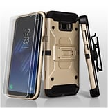 Insten 3-in-1 Kinetic Hybrid Holster Case Combo 2pcs Protector For Samsung Galaxy S8 Plus S8+ - Gold
