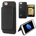 Insten Executive Protector Stand Leather Wallet Flap Pouch Case Cover for Apple iPhone 6/6s/7 - Blac