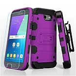 Insten Storm Tank Case Cover For Samsung Galaxy Amp Prime 2/Express Prime 2/J3 (2017)/J3 Emerge w/Ho
