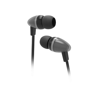 Wired Stereo 3.5mm Earbuds with Integrated Mic and Remote for iPhone iPod Samsung Galaxy HTC - Black