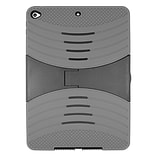 Insten Dual Layer Hybrid Stand Rubber Coated Silicone/Plastic Case Cover For Apple iPad Air 2 - Gray