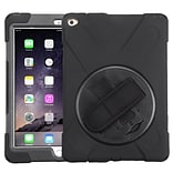 Insten Rotatable Hard Stand Protective Case Cover (with Wristband) For Apple iPad Air 2 - Black
