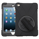 Insten Rotatable Hard Stand Protective Case Cover (with Wristband) For Apple iPad Mini 4 - Black