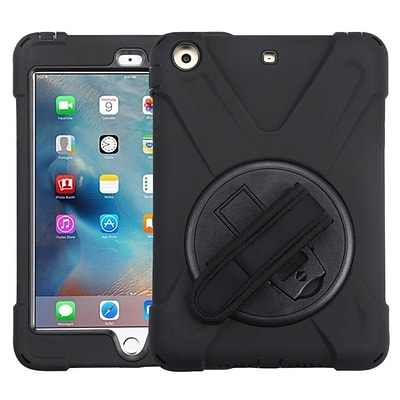 Insten Rotatable Hard Stand Protective Case Cover (with Wristband) For Apple iPad Mini 1 / 2 / 3 - Black