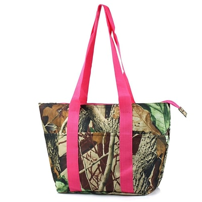 Zodaca Large Insulated Lunch Bag Cooler Picnic Travel Food Box Women Tote Carry Bags - Pink Camouflage
