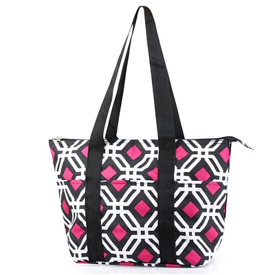 Zodaca Large Insulated Lunch Bag Cooler Picnic Travel Food Box Women Tote Carry Bags - Black Graphic