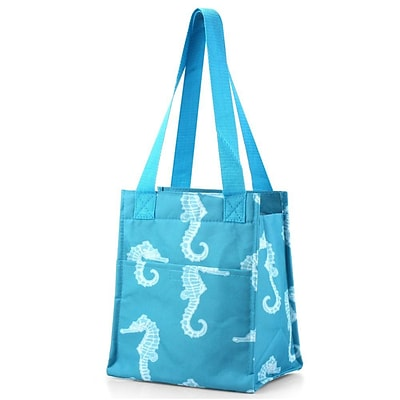 Zodaca Insulated Lunch Bag Cooler Picnic Travel Food Box Women Tote Zipper Carry Bags - Seahorse